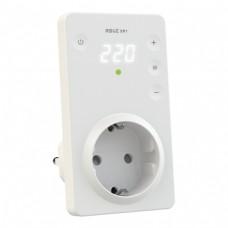 Реле напряжения в розетку RBUZ SR1 c сенсорными кнопками