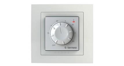 Терморегулятор  Terneo RTP механический бел\крем в рамку Schneider